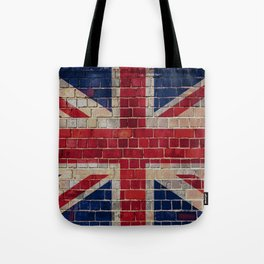 UK Union Flag on a brick wall Tote Bag