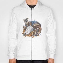 ferret and skull Hoody
