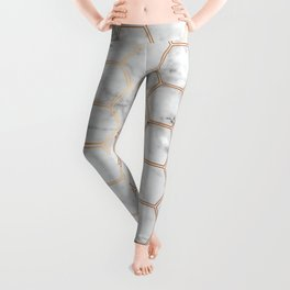 Honeycomb Marble Rose Gold #358 Leggings