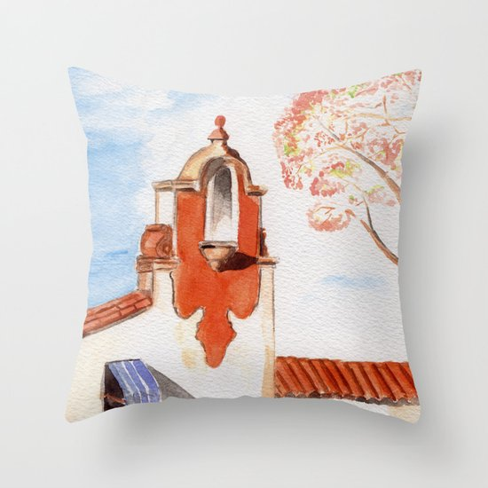 The Firestone Building Throw Pillow