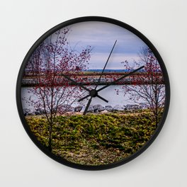 Winter Red Wall Clock