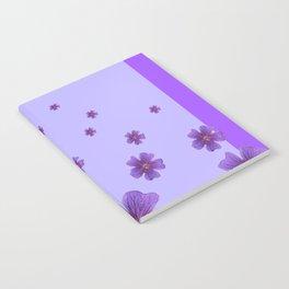 RAINING PURPLE FLOWERS LILAC COLLAGE ART Notebook