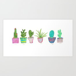 Cactus Potted House Plant Art Print
