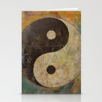 yin yang Stationery Cards featuring Yin Yang by Michael Creese