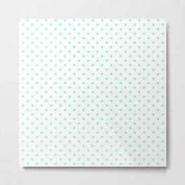 Dots (Aquamarine/White) Metal Print