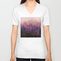 woodland V-neck T-shirts featuring The Heart Of My Heart by Tordis Kayma