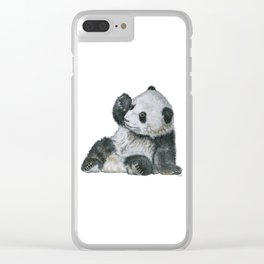 Exhausted Panta Bear Clear iPhone Case