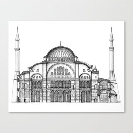 Section of Hagia Sophia - Istanbul Canvas Print
