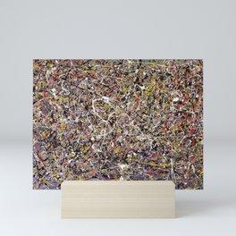 Intergalactic - Jackson Pollock style abstract painting by Rasko Mini Art Print
