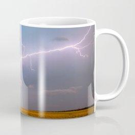 Electric Sky - Lightning Spans Entire Sky in Southern Oklahoma Coffee Mug