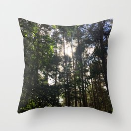 Light Through Trees. Rushmere Country Park, Bedfordshire Throw Pillow