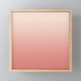Ombre Pink Coral Framed Mini Art Print
