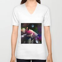 hologram V-neck T-shirts featuring Moonlight Drive by Antonio Jader