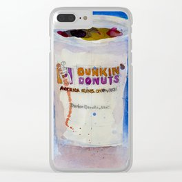 Dunkin' Donuts Clear iPhone Case