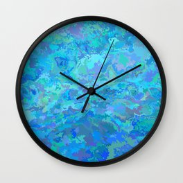 Watercolor blue therapy Wall Clock