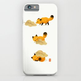 Fox and leaf blanket iPhone Case
