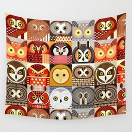 North American Owls Wall Tapestry