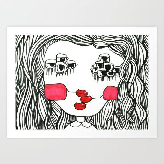 Monster with Cheeks Art Print