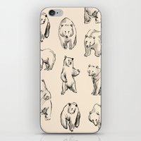 bears iPhone & iPod Skins featuring Bears by leah reena goren