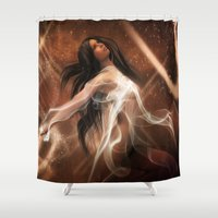 women Shower Curtains featuring Women by Susann Mielke