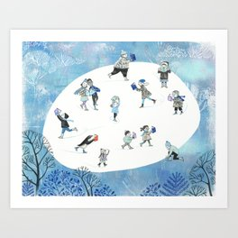 Ice Skating Fun Art Print