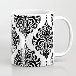 Black and White Damask Coffee Mug