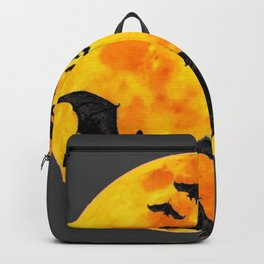 HALLOWEEN BAT INFESTED HAUNTED MOON ART DESIGN Backpack