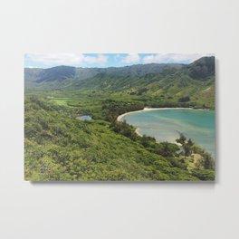Kahana Bay And Valley View Metal Print