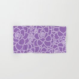 Amethyst Succulent Drawing Hand & Bath Towel