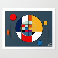 abstract art geometric Art Print