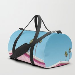 Pink House Roofline with Palm Trees (Palm Springs) Duffle Bag
