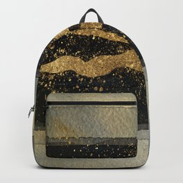 GOLD VEIN Abstract Watercolor Art Nr. 2 Backpack