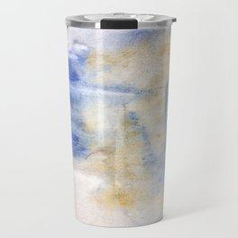 Peach blue Travel Mug