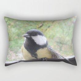 A Titmouse visited me Rectangular Pillow