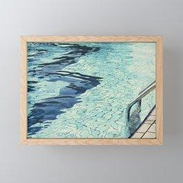 Summertime swimming Framed Mini Art Print