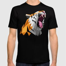 TML polygon tiger ROAR!!! Mens Fitted Tee MEDIUM Black