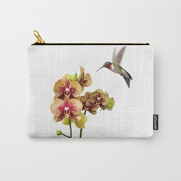 Hummingbird & Phalaenopsis Carry-All Pouch