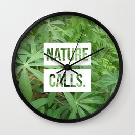 Nature Calls | 7 Wall Clock