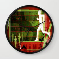 running Wall Clocks featuring Running by Robin Curtiss
