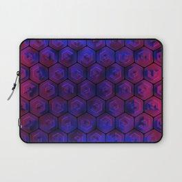 Blue hexagonal honeycomb Laptop Sleeve