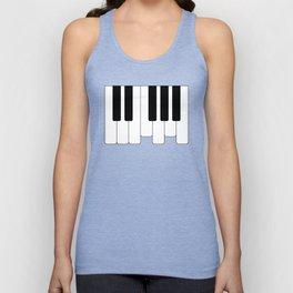 Piano keys. Playing Piano #society6 #decor #buyart #artprint Unisex Tank Top