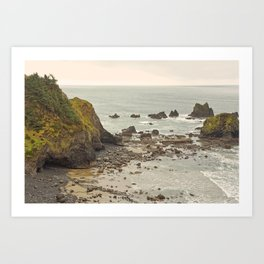 Ecola Point, Oregon Coast, hiking, adventure photography, Northwest Landscape Art Print