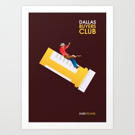 Dallas Buyers Club Minimalist Poster Art Print