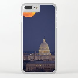 Full Moon Over The Capitol Clear iPhone Case