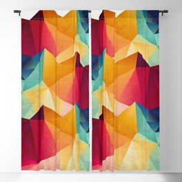 geometric color mountains Blackout Curtain