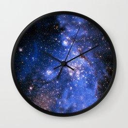Blue Embrionic Stars Wall Clock