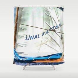 The Sails Of Unal Kaptan Shower Curtain