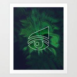 Nature eye Art Print