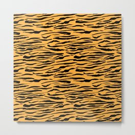Tiger Stripes Funny Gift for Africa Lovers Metal Print