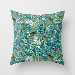 I Fall For Autumn Paisley - Everyday Colorway Throw Pillow